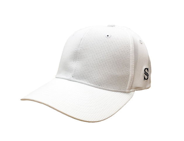 NEW-Smitty Performance Flex Fit Hat - Solid White