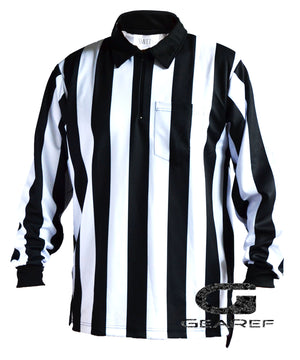 "Football Deluxe 2"" Stripe Fleece Lined Water Repellent Shirt - Smitty Official's Apparel-Gearef officiating supplies - 1"