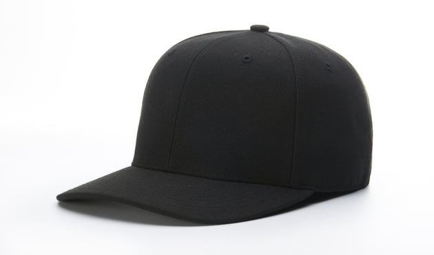 CLOSEOUT RICHARDSON 8-STITCH BASE HAT-BLACK