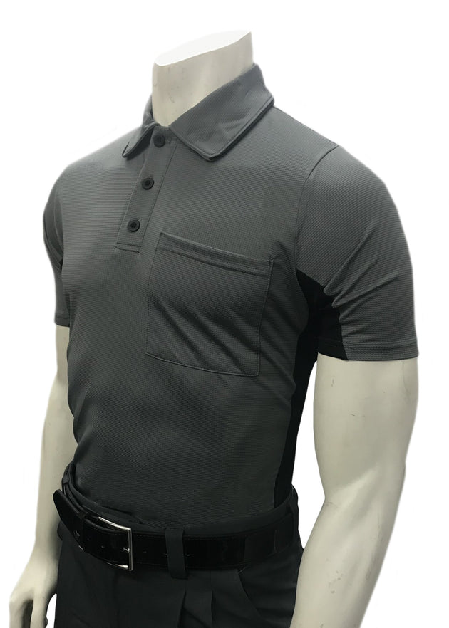 Smitty MLB Replica Body Flex Umpire Shirt-CARCOAL