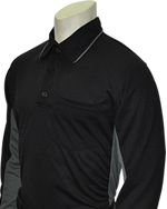 CLOSEOUT MLB STYLE LONG SLEEVE UMPIRE SHIRT-BLACK