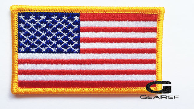 American Flag Embroidered Patch Gold - Penn Emblem-Gearef officiating supplies