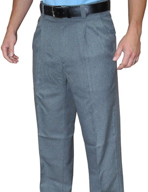 COMBO-HEATHER GREY PLEATED SLACKS W/EXPANDER WAISTBAND