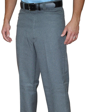 HEATHER GREY FLAT FRONT COMBO SLACKS-WESTERN CUT POCKETS