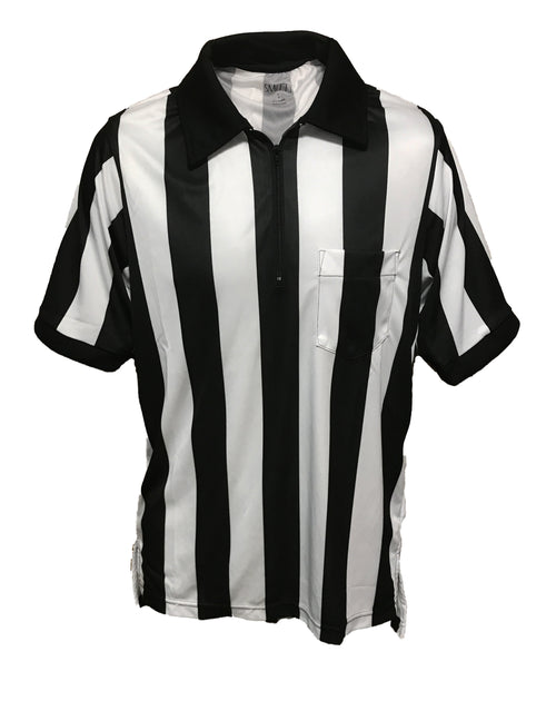 Performance Mesh Fabric 2 inch Stripe Short Sleeve Football Shirt