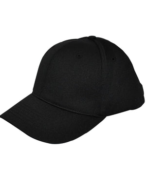 Flex-Fit 6 Stitch Umpire Hat-Black