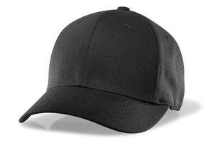 RICHARDSON BLACK FLEX FIT BASE HAT-8 STITCH VISOR