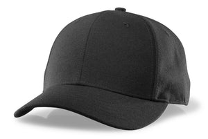 RICHARDSON BLACK COMBO HAT- 6 STITCH VISOR