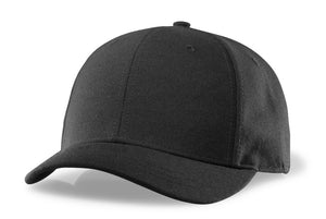 RICHARDSON BLACK PLATE HAT-4 STITCH VISOR