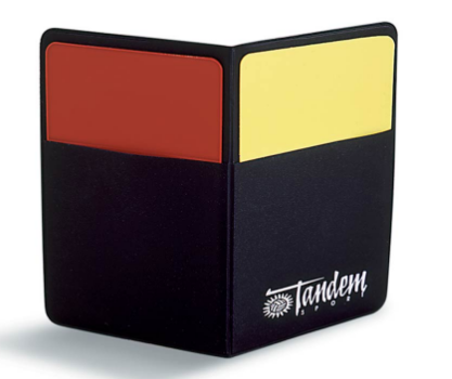 Red & Yellow Penalty Cards - Tandem Sport-Gearef officiating supplies