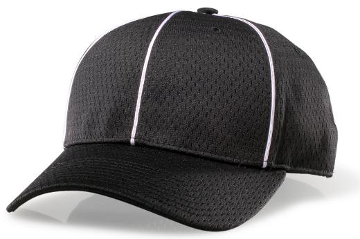 Richardson Mesh Flex-Fit Football Cap-Black - Richardson-Gearef officiating supplies