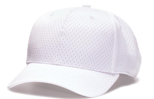 Richardson Mesh Flex-Fit Football Cap-White - Richardson-Gearef officiating supplies