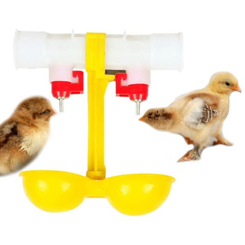 1 Pcs Yellow Chicken Feeder Drinkers for Poultry Duck,Goose, Guinea Fowl Pheasant Pigeon Feeding & Watering Supplies