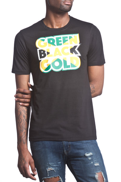 Green Black Gold Men's T-Shirt