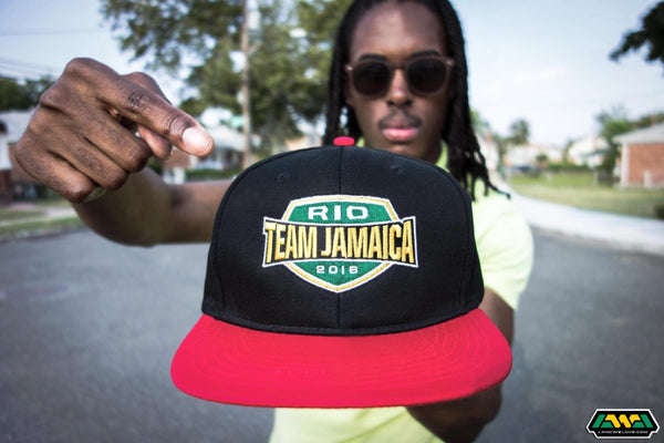 Rio Team Jamaica 2016 Hat - Red and Black