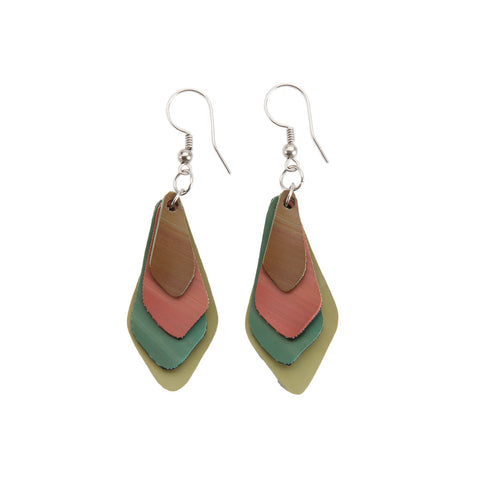 sustainable recycled lantern earrings