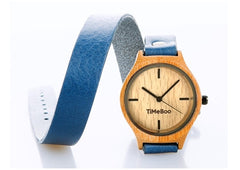 bamboo watch double strap
