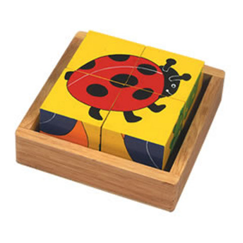 fairtrade sustainable minibeast block puzzle