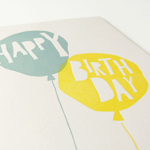 balloon birthday eco greeting card