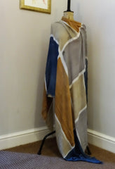 Eco Modal Blue and Brown Scarf