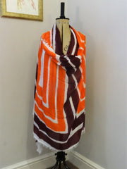 Eco Modal Orange and Purple Scarf