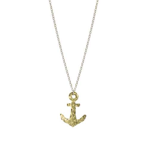 fairtrade coastal anchor pendant