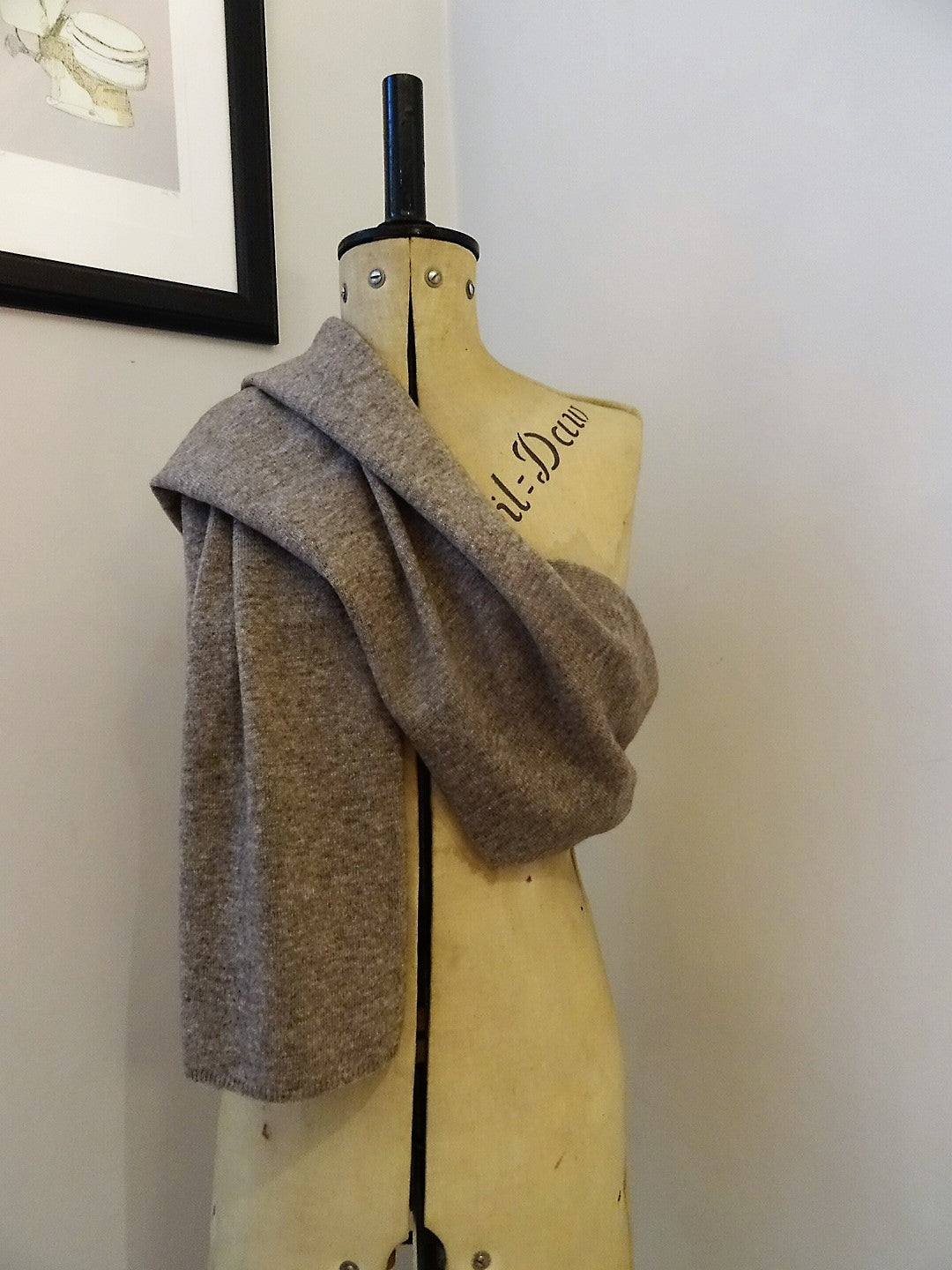 Fairtrade Yak and Merino Scarf in Beige