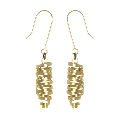 fairtrade brass ribbon laurita earrings