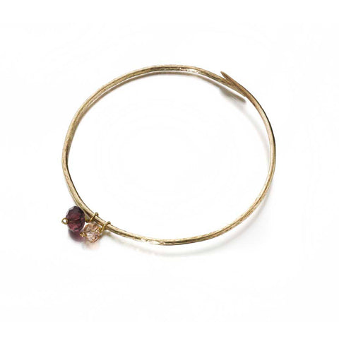 Fairtrade brass temple bangle rose
