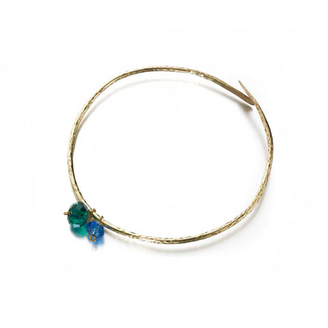 Fairtrade brass temple bangle sea