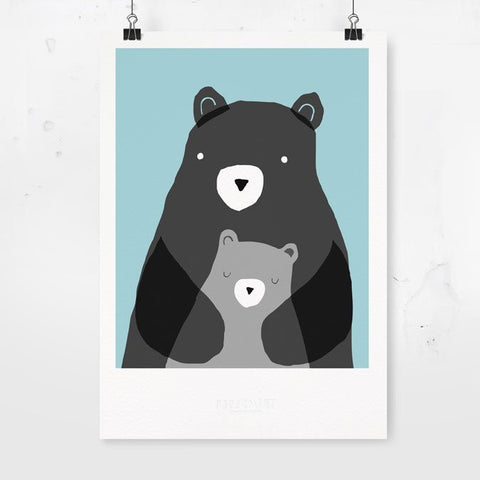 bears eco art print