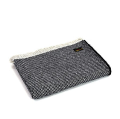 crosshatch recycled wool throw