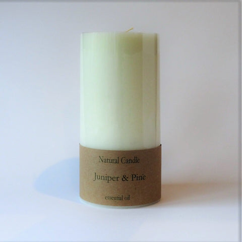 Eco friendly natural plant based wax candle Juniper and Pine