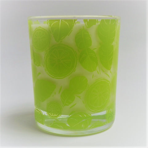 natural candle lime leaf and ginger