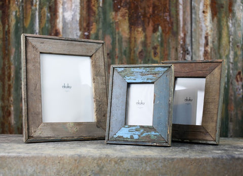 Malu Reclaimed Wood Frame Various Sizes
