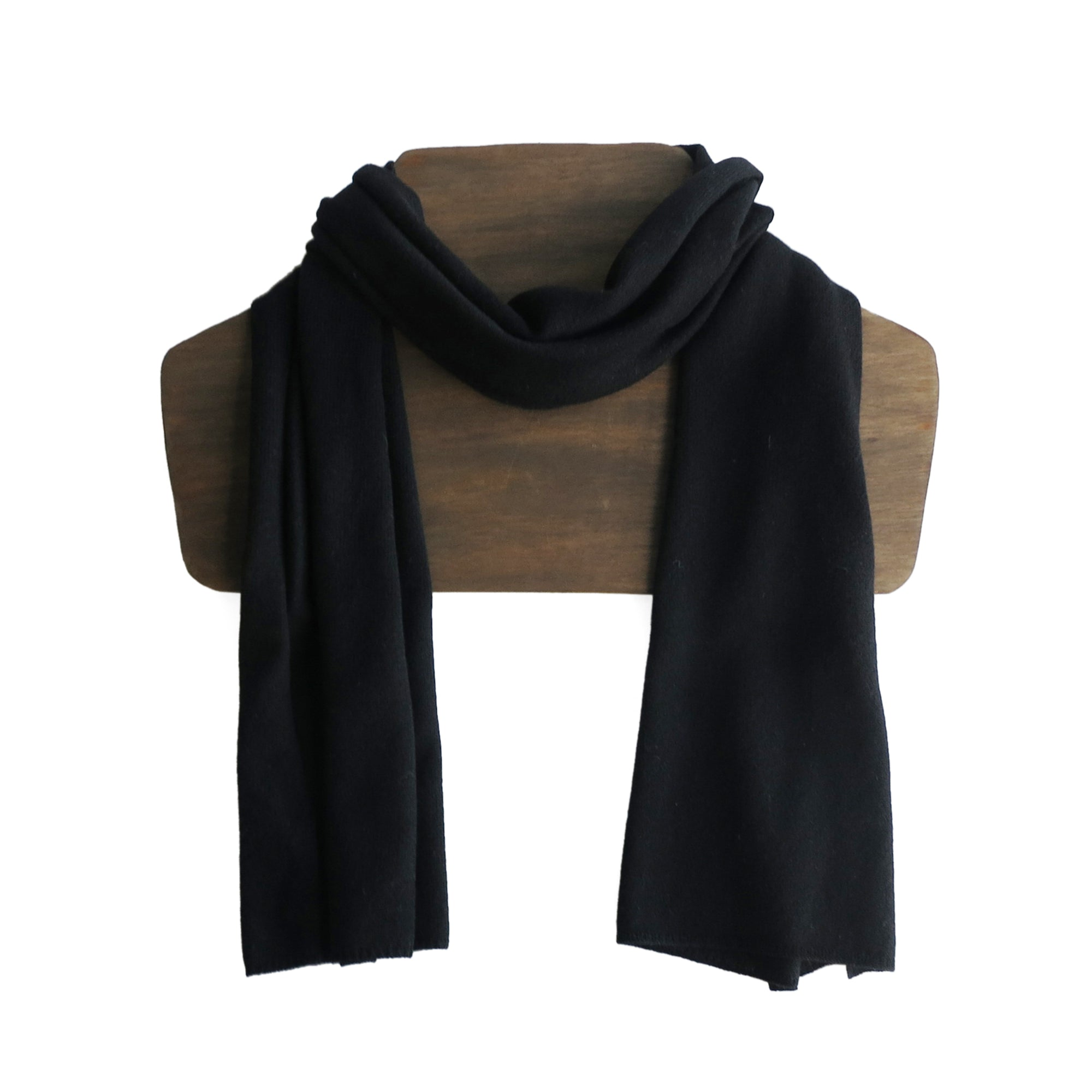 Fairtrade Yak and Merino Scarf in Black