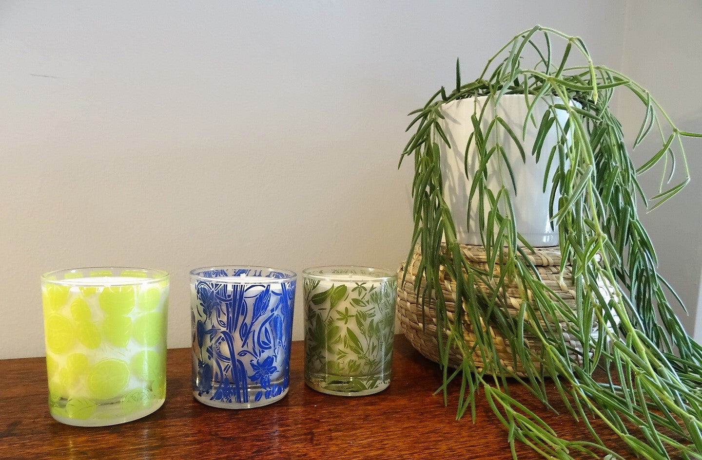 natural candle wild bluebell