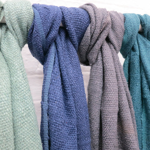 Fairtrade Banana Leaf Yarn Scarves in Different Colours