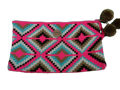 ethical handwoven clutch pink