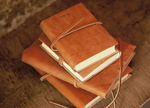 Nkuku Rustic Leather Journals with Recycled Cotton Paper - Be good. Shop.