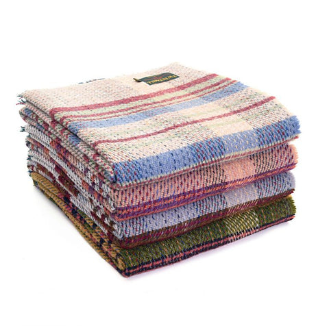 sustainable random recycled wool picnic rug large