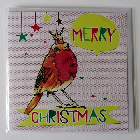 Eco Recycled Christmas Card Robin Design From Alice Palace