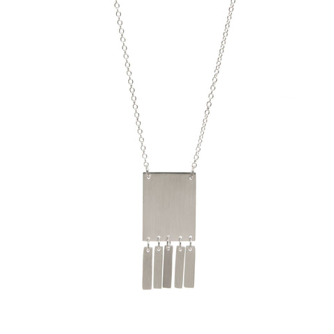 fairtrade ethical silver fringe pendant