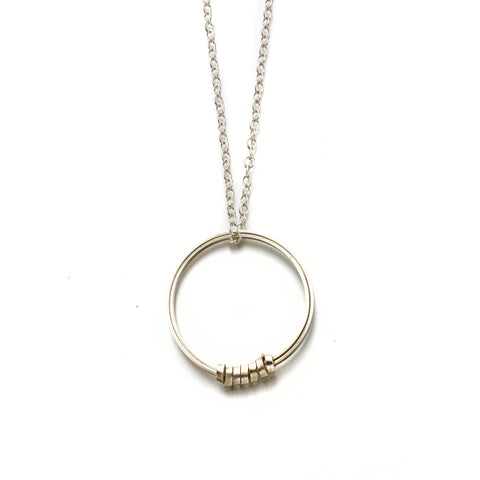 Fair Trade Silver Hoop Pendant