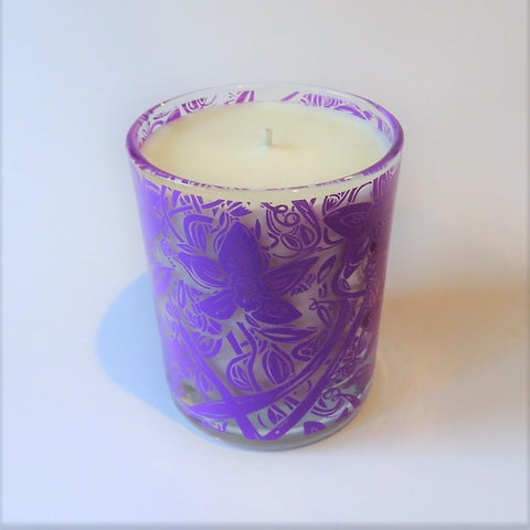 Natural wax candle vanilla front