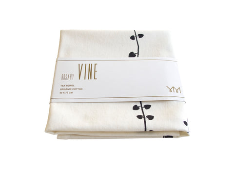 Organic Fair Trade Cotton Tea Towel Vine Wrapped