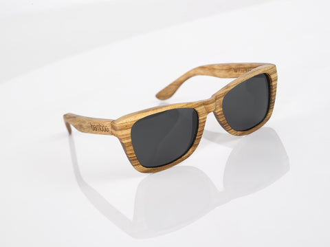 sustainable zebrawood sunglasses
