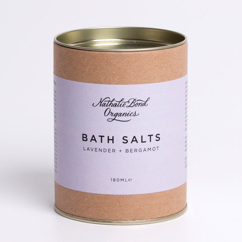 natural bath salts lavender and bergamot