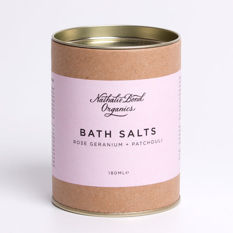 natural bath salts rose geranium and patchouli