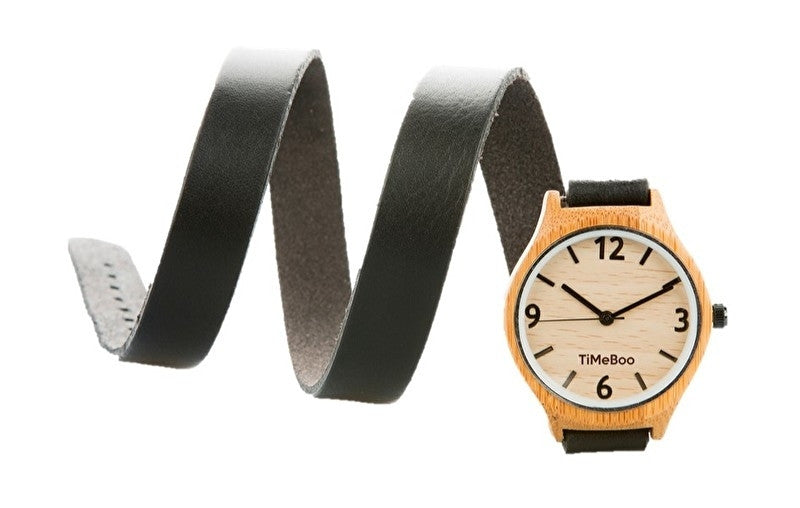 bamboo watch triple strap